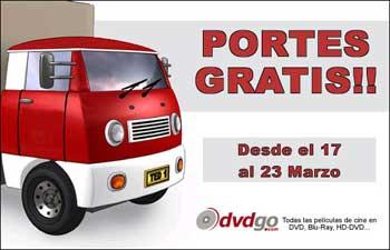 Promoción Fallas/Semana Santa: Gastos de envio gratis en DVDGO
