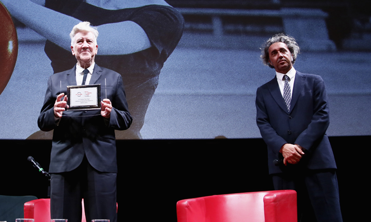 David Lynch awarded the prize for the race in Rome Film Festival